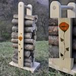 smrekový nosič na drevo